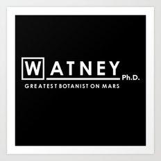 Watney Ph.D. Art Print