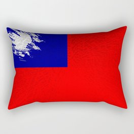 Extruded flag of Taiwan Rectangular Pillow
