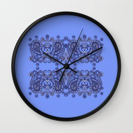 Mirrored Paisley Border Wall Clock