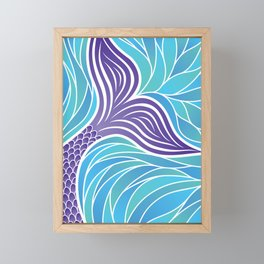 Purple Mermaid's Tail Framed Mini Art Print