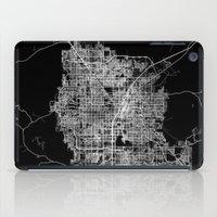 las vegas iPad Cases featuring Las Vegas map by Line Line Lines