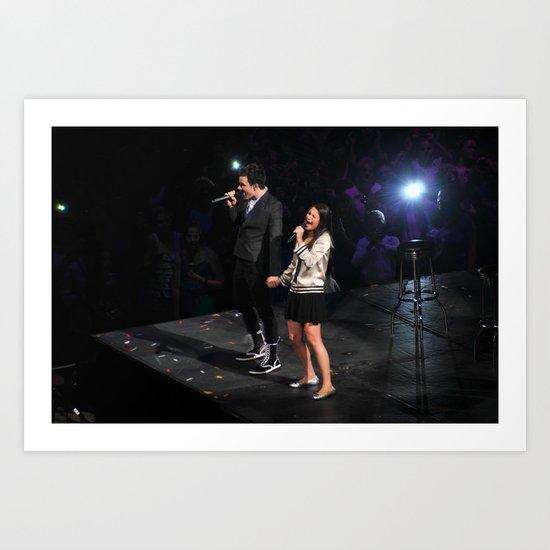 Glee Concert: Lea Michele and Chris Colfer Art Print
