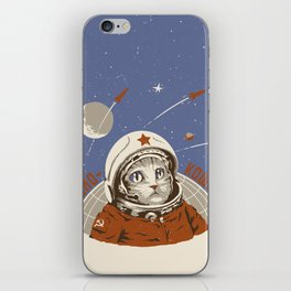 Soviet Space Cat iPhone Skin
