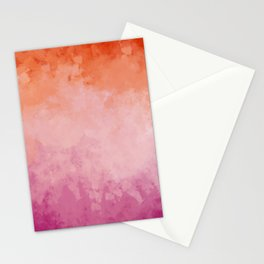 Abstract Lesbian Flag Stationery Cards