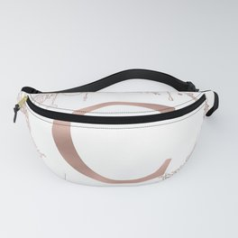 Letter C Rose Gold Pink Initial Monogram Fanny Pack