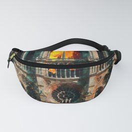 Notre Dame Cathedral on fire Fanny Pack
