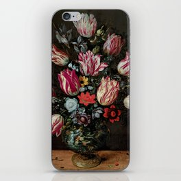 """Andries Daniels and Frans Francken the Younger """"Vase with Tulips"""" iPhone Skin"""