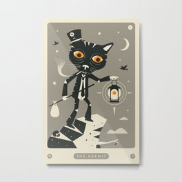 TAROT CARD CAT: THE HERMIT Metal Print