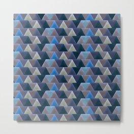 Blue Velvet Triangles Metal Print