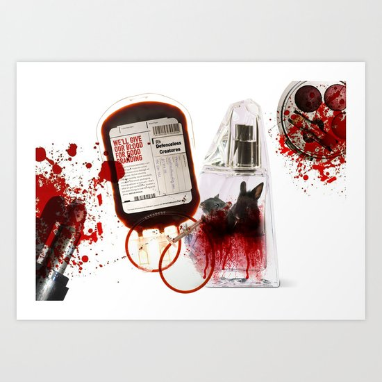 We'll give our blood for good branding Art Print