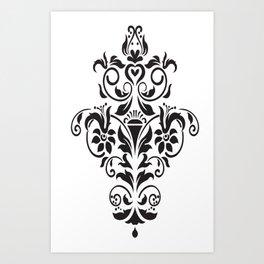 Vector Black and White Image Art Print