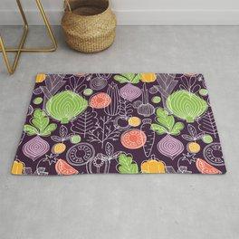Vegetable Pattern Scandinavian Design Rug
