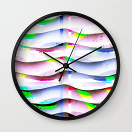 Collage with curved lines Wall Clock