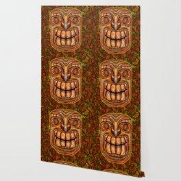 Cracky Face Tiki Wallpaper
