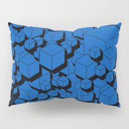 3D Cobalt blue Cubes Pillow Sham