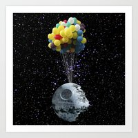 death star Art Prints featuring Death Star by J Styles Designs