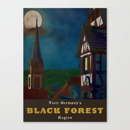 Black Forest Travel Poster Germany Canvas Print