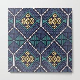 Yakan Weave Pattern Metal Print