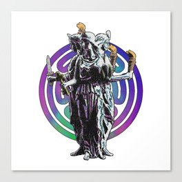 Hecate - Stained Glass Canvas Print