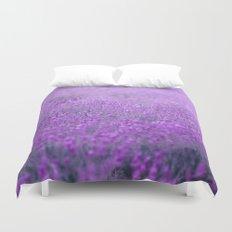 Rain on Lavender Duvet Cover