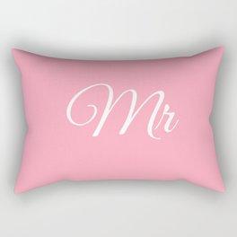 Mr (Pink) Rectangular Pillow