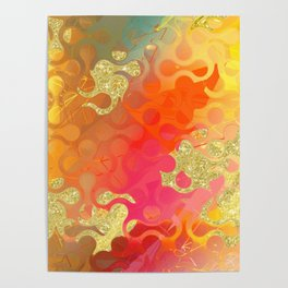 Decorative Gold Sparkling Bright Abstract Design Poster