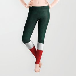 Phthalo Green Red Minimalist Abstract Colorful Minimalist Color Field Color Block Pattern Leggings