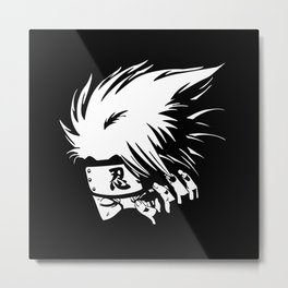 White Anime Hero Character Metal Print