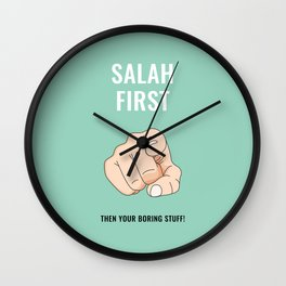 Salah First - Turquoise Wall Clock