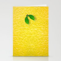 lemon Stationery Cards featuring Lemon by Diego Tirigall