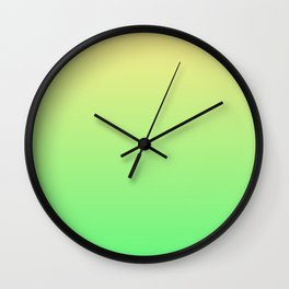 Green to Yellow Ombre Shaded Lemon and Lime Sorbet Ice Cream Gelato Wall Clock