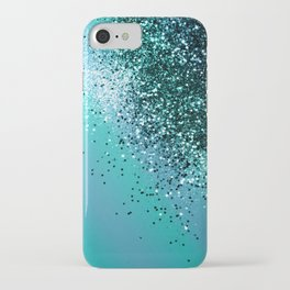Aqua Blue OCEAN Glitter #1 #shiny #decor #art #society6 iPhone Case