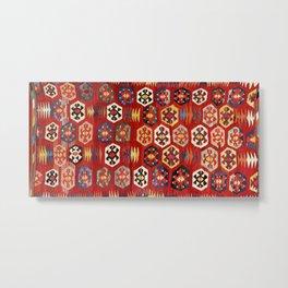 Mut  Antique Turkish Mersin Kilim Print Metal Print
