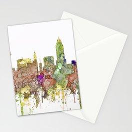 Lincoln, Nebraska Skyline - Faded Glory Stationery Cards
