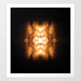 Fire Face Art Print