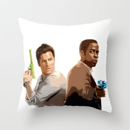 Shawn and Gus (Psych) 2 Throw Pillow