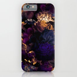 melancholy flowers big seamless pattern 01 late sunset iPhone Case