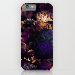 melancholy flowers big seamless pattern 01 late sunset iPhone Case