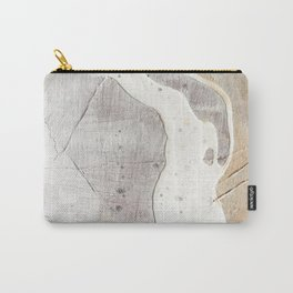Feels: a neutral, textured, abstract piece in whites by Alyssa Hamilton Art Carry-All Pouch