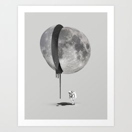 Bleeding Moon Art Print