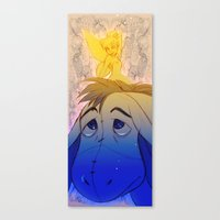 eeyore Canvas Prints featuring Tink and Eeyore by MistyTang