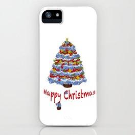 Cape Cod Hydrangea Christmas tree iPhone Case