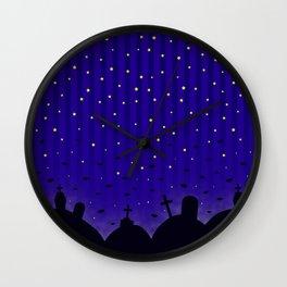 Starlit Graveyard Wall Clock