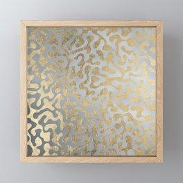 Modern elegant abstract faux gold silver pattern Framed Mini Art Print