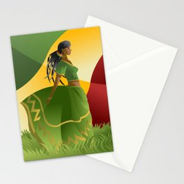 african rastafarian girl Stationery Cards
