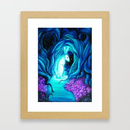 Don't Follow the Rabbit Framed Art Print
