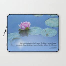 Serenity Prayer Pink Water Lily Laptop Sleeve