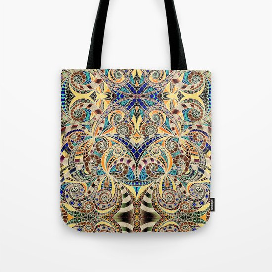 Drawing Floral Zentangle G240 Tote Bag