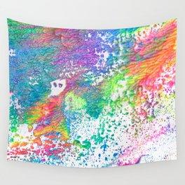 Rainbow Paint Splatter V2 Wall Tapestry