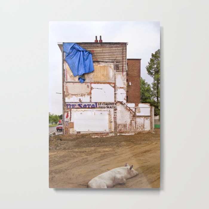 Le comptoir and the pig Metal Print
